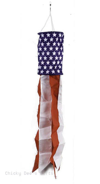 Evergreen Windsock Stars & Stripes Patriotic USA Flag 40093 - Chicky Dee's Gifts