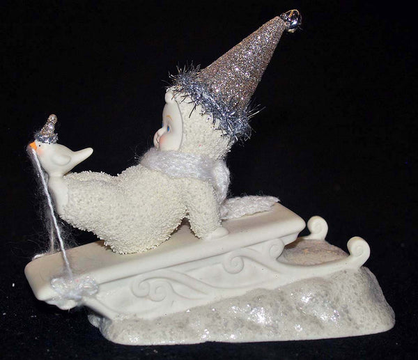 SnowBabies Fly With Me 4020749 bird sled sledding Retired   Clearance - Chicky Dee's Gifts - 1