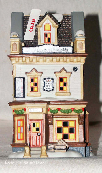 Snow Village New England Village Plainfield Sign Co 4025271  retired   Clearance - Chicky Dee's Gifts - 1
