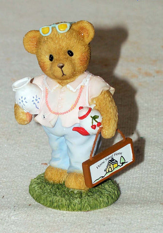 Cherished Teddies Bear Girl with Teapot 4033957  Clearance - Chicky Dee's Gifts - 1