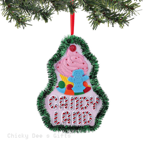 Hasbro Games Candyland Cupcake Logo Ornament 4045107 Department 56 - Chicky Dee's Gifts