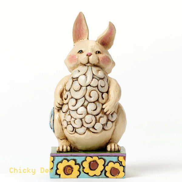 Jim Shore Heartwood Creek Pint Sized Lazy Bunny 4047079 - Chicky Dee's Gifts - 1