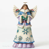 Jim Shore Winter Wonderland Angel holding Snowflakes 4047658 - Chicky Dee's Gifts - 1