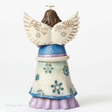 Jim Shore Winter Wonderland Angel holding Snowflakes 4047658 - Chicky Dee's Gifts - 2