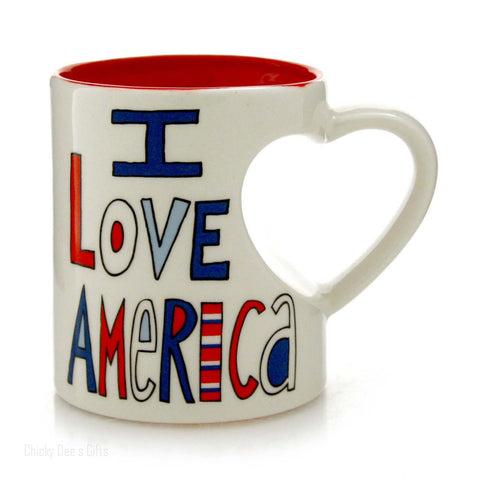 Our Name Is Mud America Heart Mug 12 OZ Coffee Tea Cup  Politics Patriotic - Chicky Dee's Gifts - 1