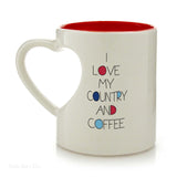 Our Name Is Mud America Heart Mug 12 OZ Coffee Tea Cup  Politics Patriotic - Chicky Dee's Gifts - 2