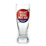 Our Name Is Mud Right Wing Glass Pilsner  Beer 16 OZ    Set of 4 Politics Patriotic - Chicky Dee's Gifts - 2