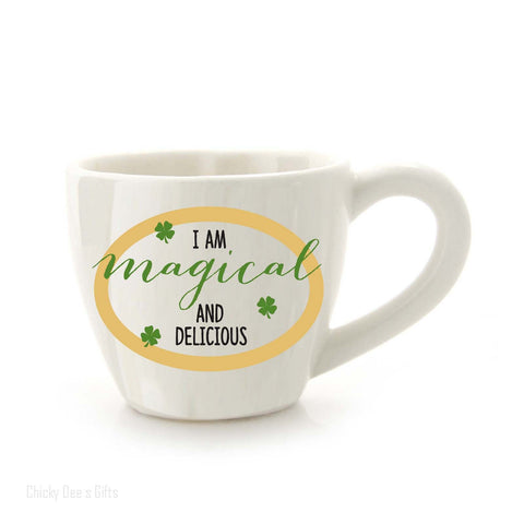 Our Name Is Mud Shamrock Tea Cup 6 Oz Irish Coffee Mug 4050751 - Chicky Dee's Gifts - 1