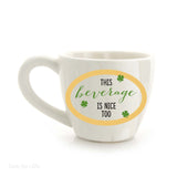 Our Name Is Mud Shamrock Tea Cup 6 Oz Irish Coffee Mug 4050751 - Chicky Dee's Gifts - 2