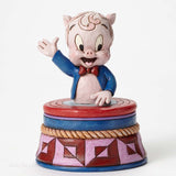 Jim Shore  Looney Tunes  Porky Pig Treasure Box  4053085 - Chicky Dee's Gifts - 1