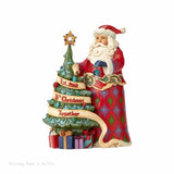 Jim Shore 15th Anniversary Crystal Santa w/ Tree 4059000