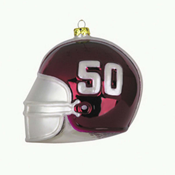 Alabama Crimson Tide Glass football Helmet Christmas Ornament BAMA NCAA 41927sc - Chicky Dee's Gifts