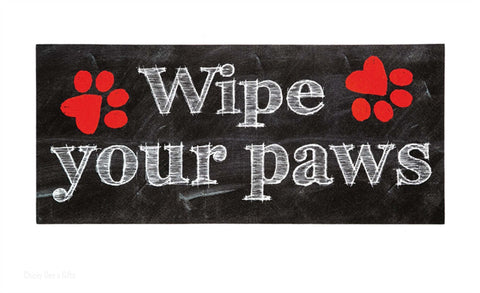 Evergreen Sassafras Wipe Your Paws Switch Mat Rug Dog   Chicky Deeu0027s Gifts    1