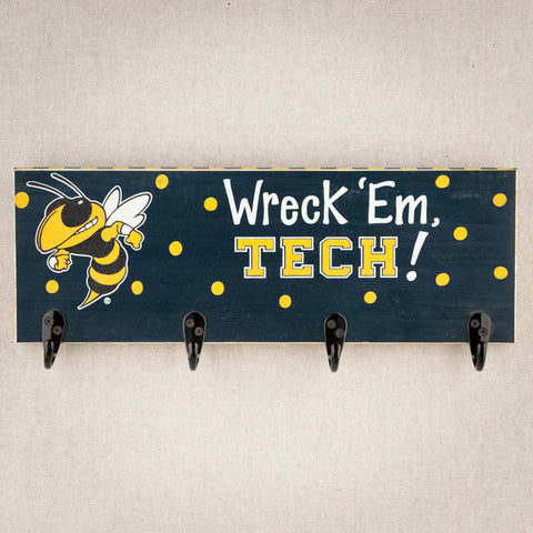 Georgia Tech Yellow Jackets GT Hook Board BUZZ coat hanger NCAA - Chicky Dee's Gifts - 1