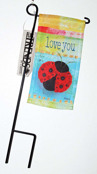 Carson FlagTrends Mini Flag Love You Ladybug Mother's Day - Chicky Dee's Gifts