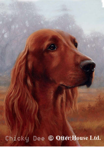 Best of Breed Garden Flag IRISH SETTER dog head by John Silver