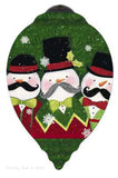 Ne'Qwa Art SNOW-STACHES Hand Painted Glass Ornament 7151157 snowman - Chicky Dee's Gifts - 1
