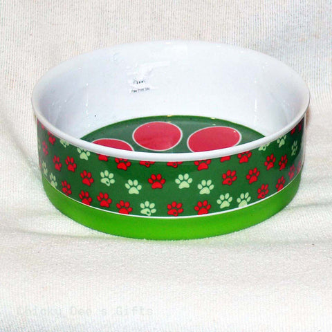 GOOD DOG Paw Bowl 6 in. green  Clearance - Chicky Dee's Gifts - 1