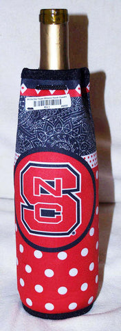 WOOZIE North Carolina State NCS Wine Bottle Koozie Coozie   NCAAClearance - Chicky Dee's Gifts - 1
