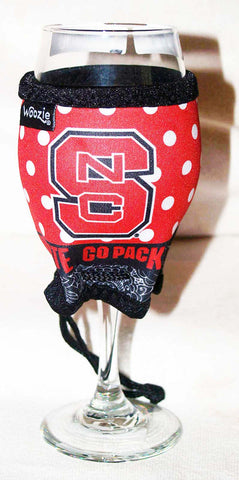 WOOZIE North Carolina State NCS Wine Glass  Koozie Coozie  NCAA Clearance - Chicky Dee's Gifts