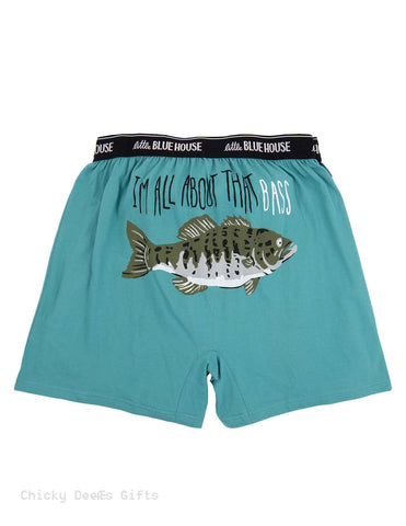 Hatley Men s Boxers I'm All About the Bass Novelty Underwear Dad Father's Day Fishing - Chicky Dee's Gifts - 1