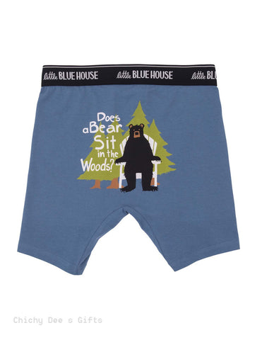 Hatley Men s Boxers DOES A BEAR SIT IN THE WOODS Novelty Underwear  Father's Day