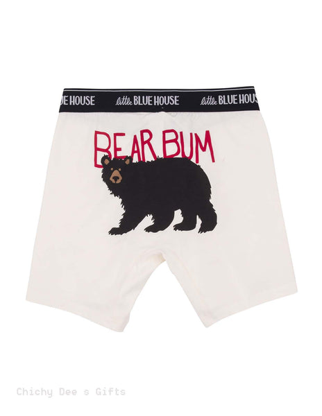 Hatley Men s Boxers BEAR BUM Novelty Underwear Father's Day