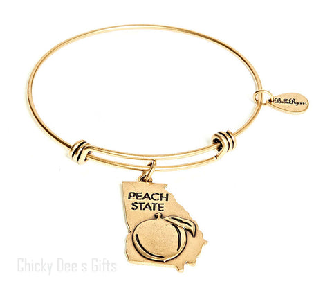 Bella Ryann Gold Expandable Bangle Charm Bracelet Georgia - Chicky Dee's Gifts