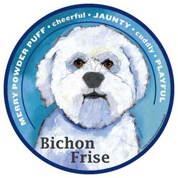 Mad Mags Car Magnet Bichon Frise dog - Chicky Dee's Gifts