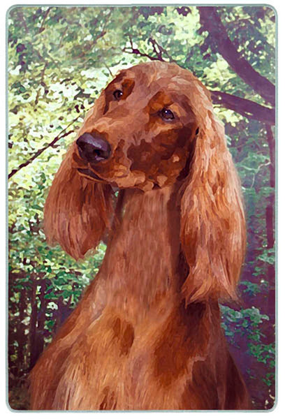 Canine Designs Irish Setter Tempered Glass Cutting Board female