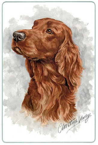Canine Designs Irish Setter Tempered Glass Cutting Board male