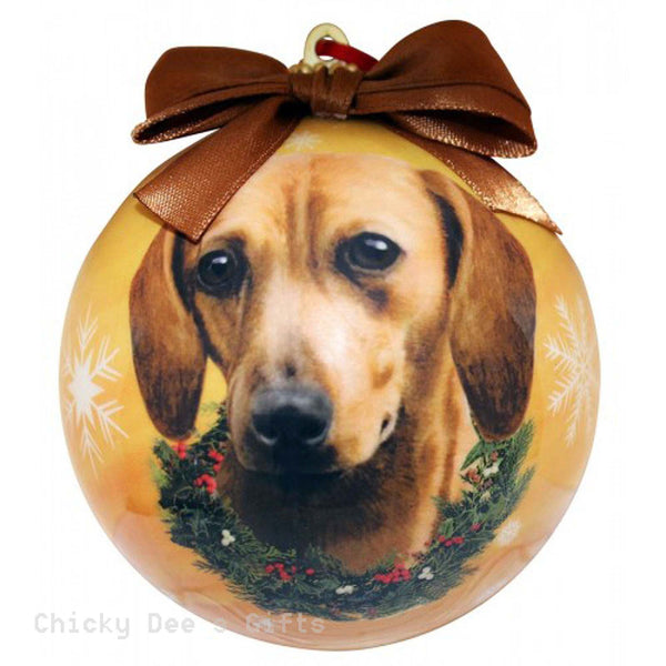 E & S Pets  Dachshund, Red  Shatter Proof Christmas Ball Ornament - Chicky Dee's Gifts
