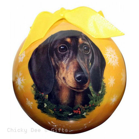 E & S Pets  Dachshund, Black  Shatter Proof Christmas Ball Ornament - Chicky Dee's Gifts