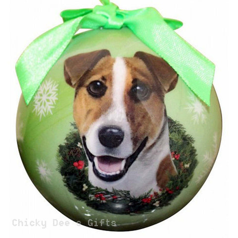 E & S Pets  Jack Russell   Shatter Proof Christmas Ball Ornament - Chicky Dee's Gifts