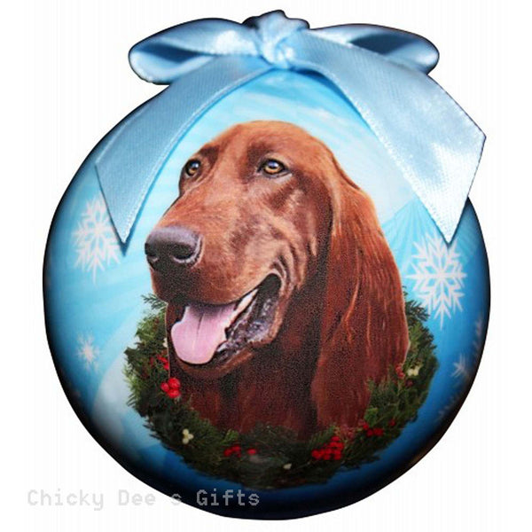 E & S Pets  Irish Setter  Shatter Proof Christmas Ball Ornament - Chicky Dee's Gifts