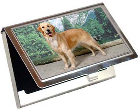 Canine Designs Golden Retriever Standing Business / Credit Card Case