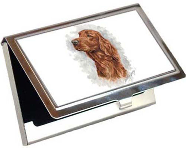 Canine Designs Irish Setter Business / Credit Card Case Male