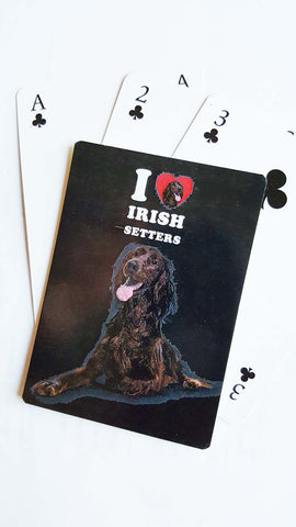 Tree-Free Greetings I Love My Irish Setters Playing Cards