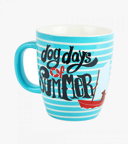 Little Blue House by Hatley Curved 14 oz Ceramic Mug DOG DAYS OF SUMMER