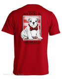 Live Oak Brand UGA University of Georgia Even My Dog Unisex Pocket Tee Shirt T-Shirt - Chicky Dee's Gifts - 1