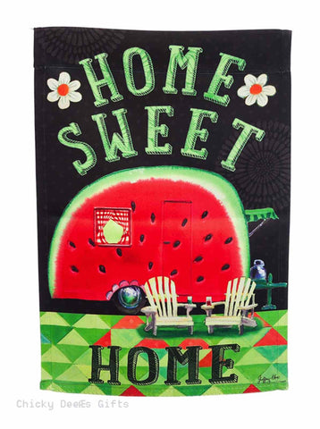 Evergreen Garden flag Watermelon RV Camper Summer Camping 14S3797 - Chicky Dee's Gifts - 1