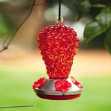 Evergreen Hummingbird Feeder Glass Red Grapes top feeder 2HF040 - Chicky Dee's Gifts - 2