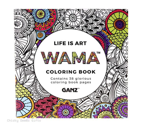 GANZ  WAMA Life is Art Adult Coloring Book - Chicky Dee's Gifts - 1