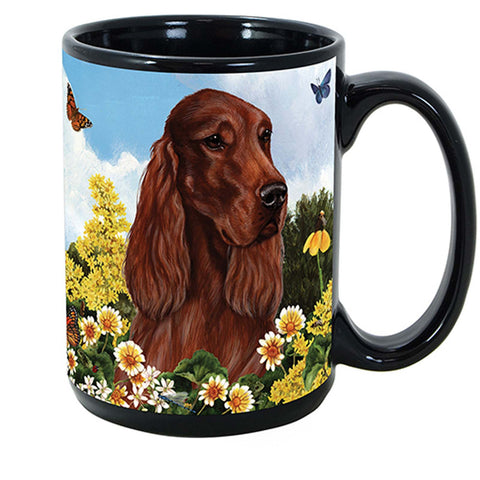 Pet Gifts USA Irish Setter Garden Party Fun 15 oz Mug