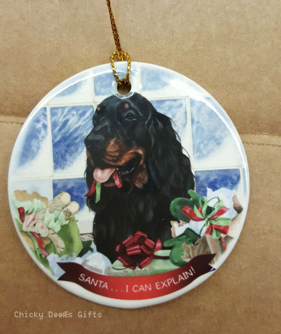 Pet Gifts USA Gordon Setter Christmas Ornament   I Can Explain - Chicky Dee's Gifts
