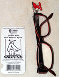 Hooked on You Red Dress Heart Disease Awareness Eye Glasses Holder Accessory - Chicky Dee's Gifts - 3