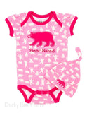 Hatley Infant One Piece Fuchsia Bears baby onesie - Chicky Dee's Gifts - 1
