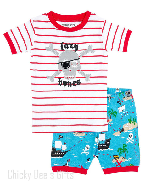 Hatley Kids PJ Pajama Shorts Set Treasure Island Pirate - Chicky Dee's Gifts - 1
