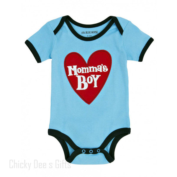 Hatley Infant One Piece Mamma's Boy baby onesie - Chicky Dee's Gifts - 1