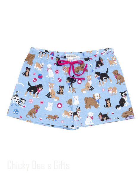 Hatley Women s PJ Boxer Cute Pups dog Sleep Shorts Mother's Day - Chicky Dee's Gifts - 1